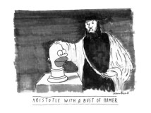 michael-crawford-aristotle-with-a-bust-of-homer-new-yorker-cartoon