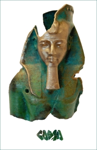20131006 Ramesses II, Ozymandias in bronze by Cosmo Wenman
