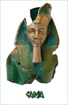 20131006 Ramesses II, Ozymandias in bronze by Cosmo Wenman