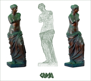 20131030 3D Captured 3D Printed Venus de Milo by Cosmo Wenman