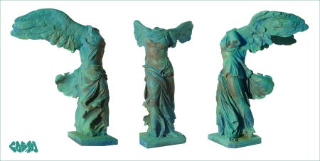 20131030 3D Captured 3D Printed Winged Victory of Samothrace by Cosmo Wenman