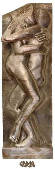 Ecstasy by Eric Gill in bronze by Cosmo Wenman_close crop