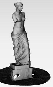 Venus de Milo, solid view, captured at the Skulpturhalle Basel by Cosmo Wenman