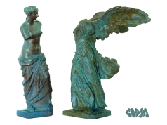 20140116 VenusDeMilo and Winged Victory by Cosmo Wenman