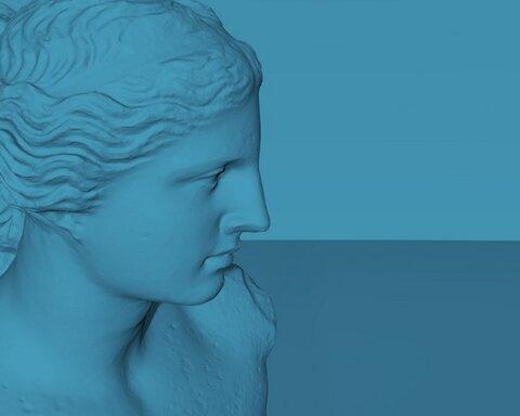 Venus de Milo 3D capture by Cosmo Wenman (blue_medium)
