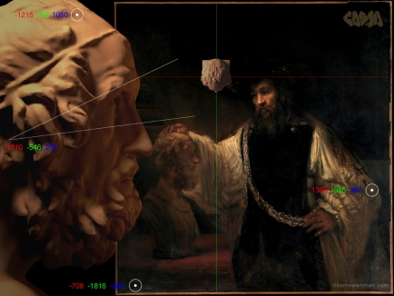 20140723 Lighting Diagram for Rembrandt's Aristotle with a Bust of Homer_by Cosmo Wenman