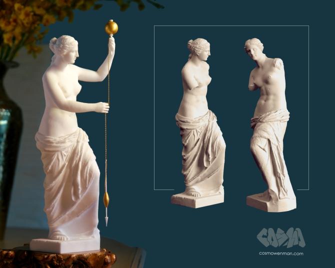 20150413 Venus de Milo Spinning Thread 3D Print by Cosmo Wenman