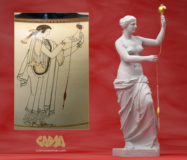 20150423 Venus de Milo Spinning Thread with Greek Vase, by Cosmo Wenman