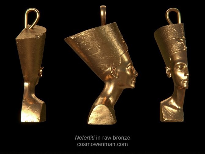 02160319 Nefertiti in RawBronze A by CosmoWenman